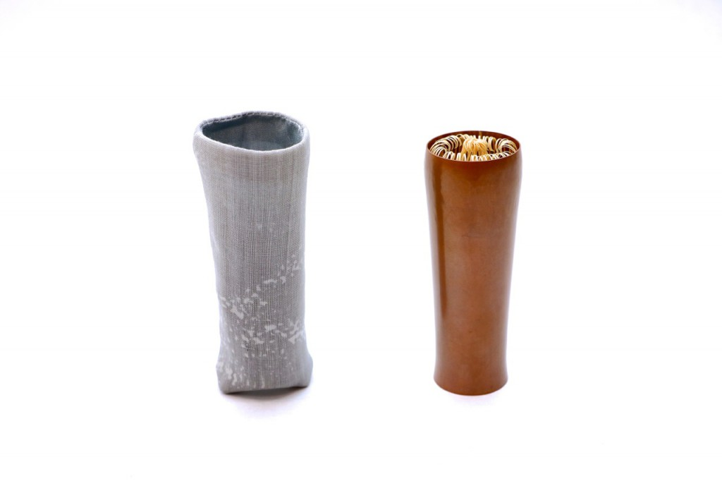 鎚目茶筅筒 銅製