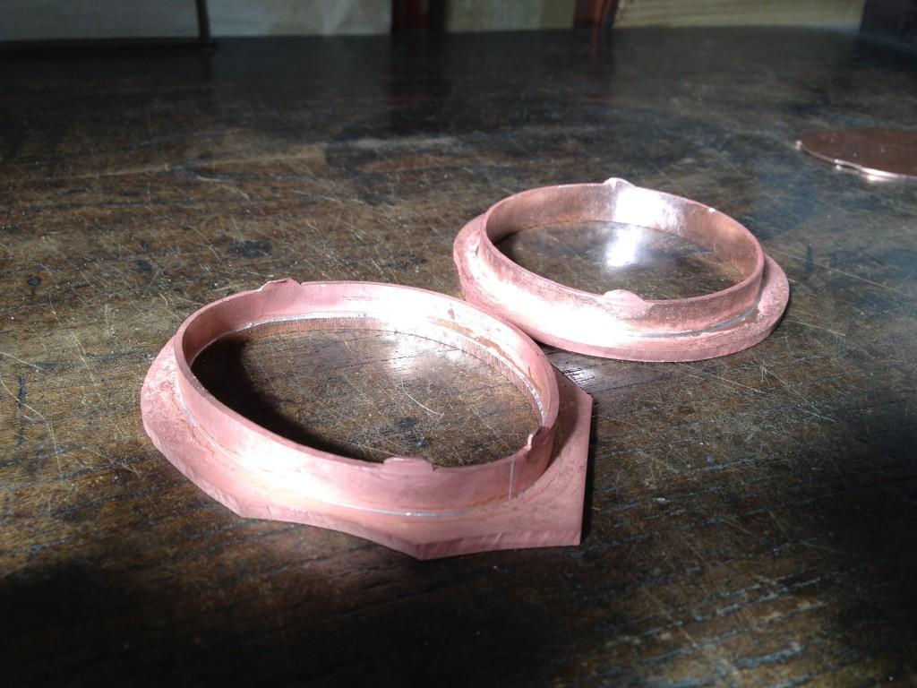 銅の襖引手制作行程5